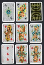 Vintage Collectible playing cards courts  Portrait, by Walter Krauss 1969